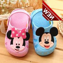 Kids Baby Girl Toddler Slippers For Girls Boys Cute Cartoon Charms Summer Non-slip Shoes Slipper
