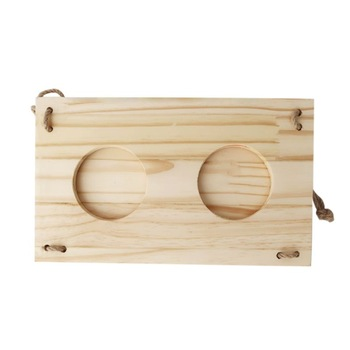 Wooden Rabbit Hay Feeder Hay Manger Rack Holder Hamster Food Dispenser for Guinea Pig Bunny Chinchilla