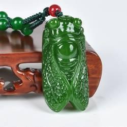 Синьцзян нефрит из области Хэтянь нефритовый кулон натуральный нефрит нефрита персонаж и Нефритовой подвеской Цепочки и ожерелья (Цвет