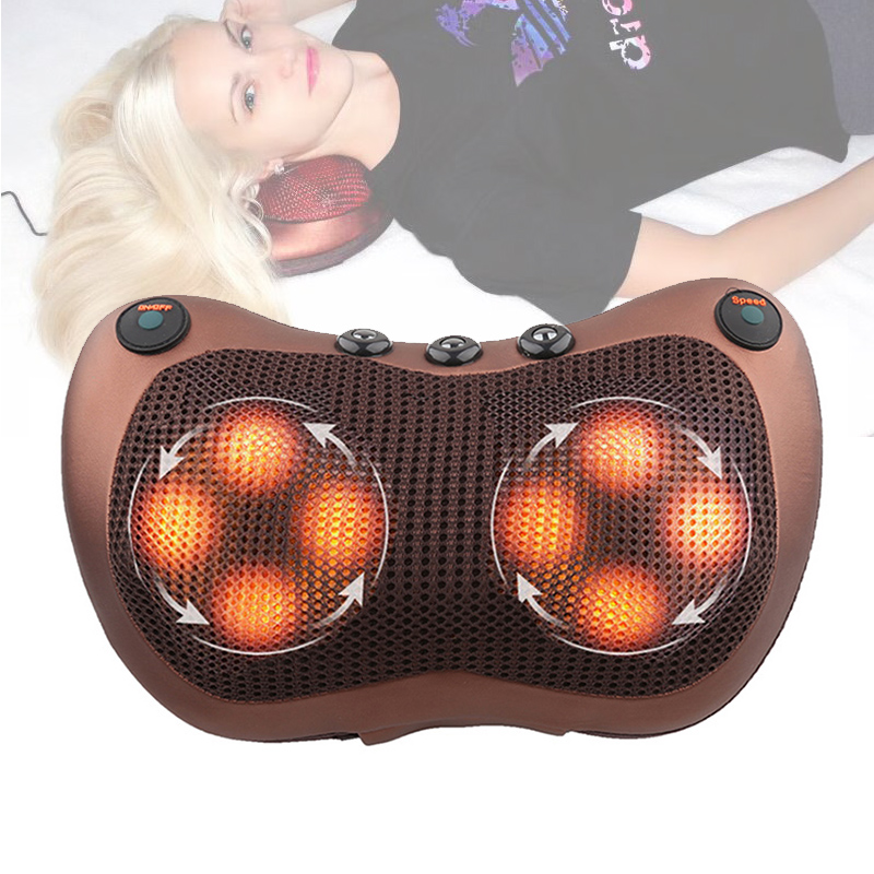 Расслабляющая массажная подушка вибратор электрическая Шея плечо Отопление спины разминание инфракрасная терапия Массажная подушка