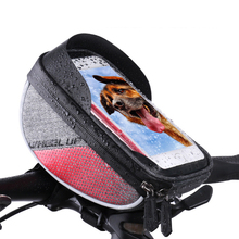 Bicycle Handlebar Bag Bike Front Tube Waterproof Touch Screen Mobile Phone Bag Cycling Accessories Bike Bag cbr outdoor cycling bike touch screen top tube bag black grey