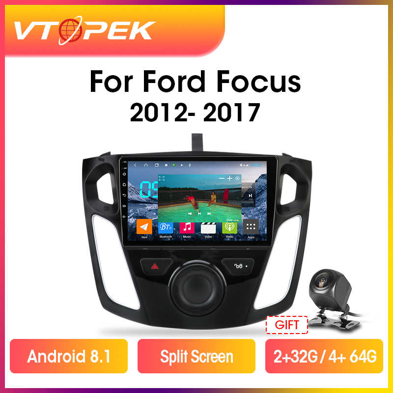 "Vtopek 9 ""2din Android 9.0 Car Multimedia Video Pemain GPS Navigasi untuk Ford Focus 3 Mk 3 Salon 2012-2017 Head Unit 2 Din DSP"