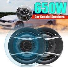 Haut-parleur universel de voiture, 2 pièces, 6 pouces, 650W, 4 voies, Coaxial, Hifi, Audio, musique, stéréo, Installation Non destructive