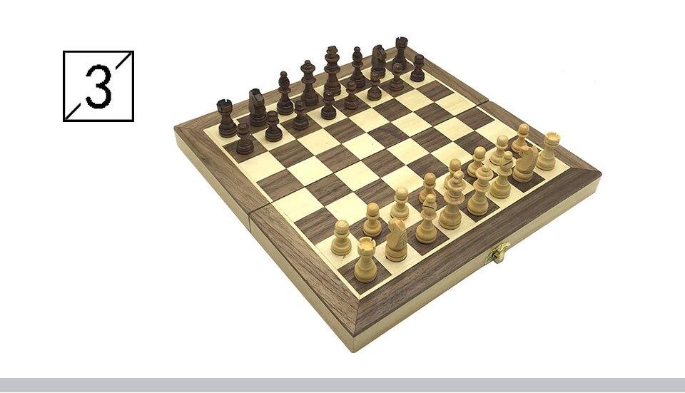 de madeira maciça placa de xadrez dobrável