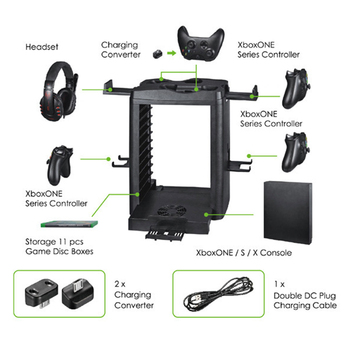 Cooling Fan Cooler Multi Game Charging Dock Station Stand for One/X/S Game Console VDX99