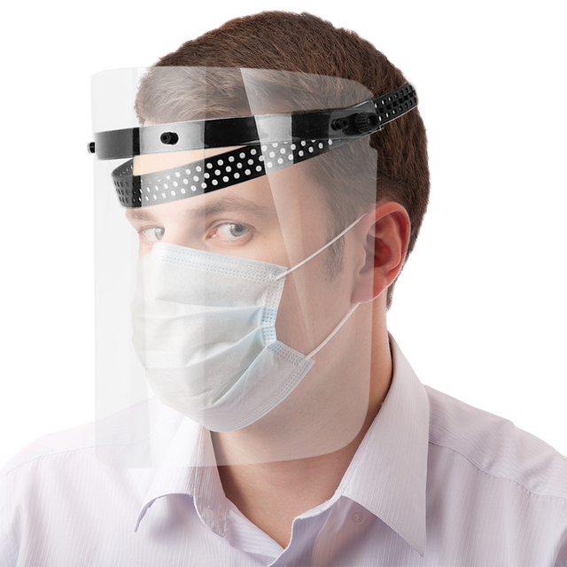 Safety Dustproof Mask  Anti-Saliva Transparent Faces Shields Screen Spare Visors Head Face Respiratory Tract Protection Masques 3