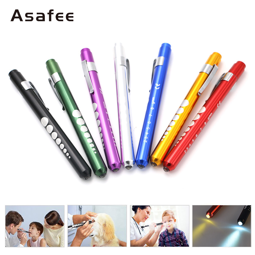 Colorful Gift Pen Portable LED Light Medical Pen Light Doctor Nurse FirstAid Medical Pen Lamp Emergency Torch Pen Mini Pen Light
