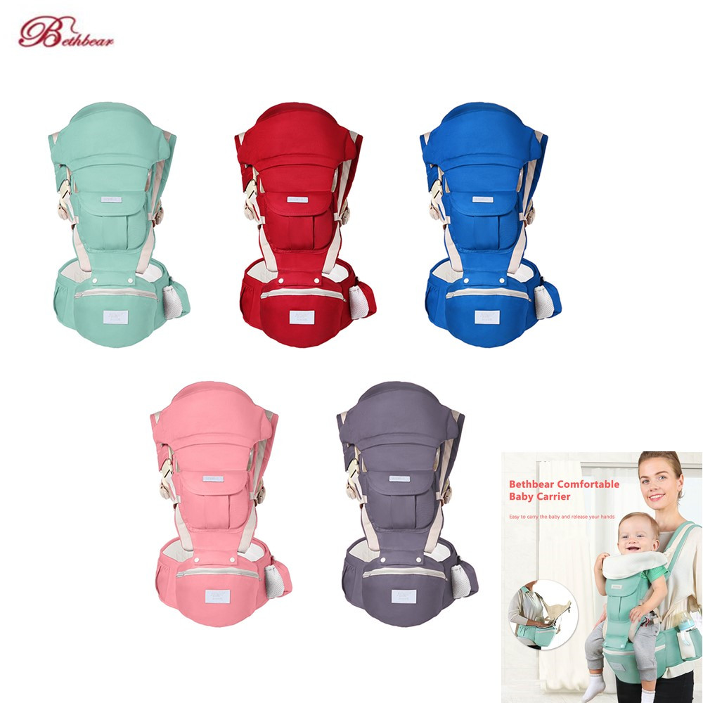Bethbear Infant Baby Carrier Four Carrying Ways 30kg Load Bearing Carriers Cotton Comfortable Backpacks For 0-36 Months Baby