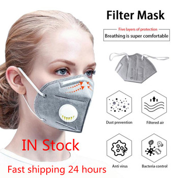 Reusable N95 Mask Anti Dust Flu respirator ffp2 Mask 4-Layer PM2.5 Dustproof Protective 95% Filtration Unisex Mouth Muffle Cover