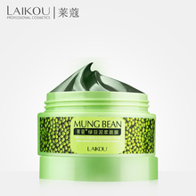 LAIKOU Mung Bean Mud Deep Cleaning cream Acne Treatment Remove Blackhead Oil Control Facial Masks Shrink Pores