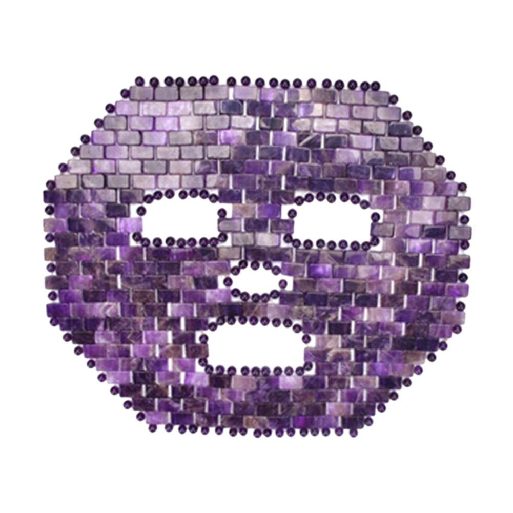 Nourishing Facial Amethyst Durable Cooling Healing Relieve Spa Eye Protective Face Mask Portable Reusable Skin Care Rose Quartz