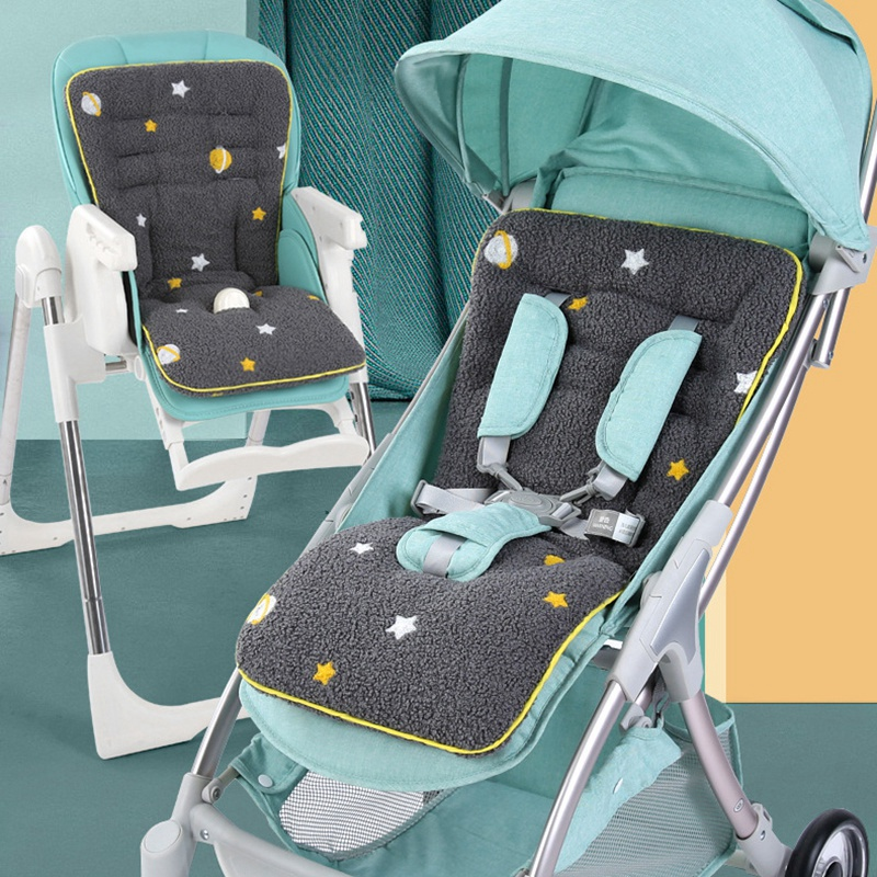 Baby Stroller Cushion Infant Car Seat Insert Fluff Universal Baby Seat Liner Seat Pad for Stroller, Car Seat
