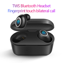 TWS mini lightweight Wireless Headset 3D subwoofer stereo touch sports Bluetooth Earphone with microphone Charging box earbuds t50 tws bluetooth headset sports touch wireless earphone 3d stereo microphone wireless earbuds charging box