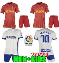 Adulto crianças kits 2020 2021 real zaragoza longe vermelho shinji kagawa 20 21 real zaragoza casa zapater pombo camisa dos homens criança