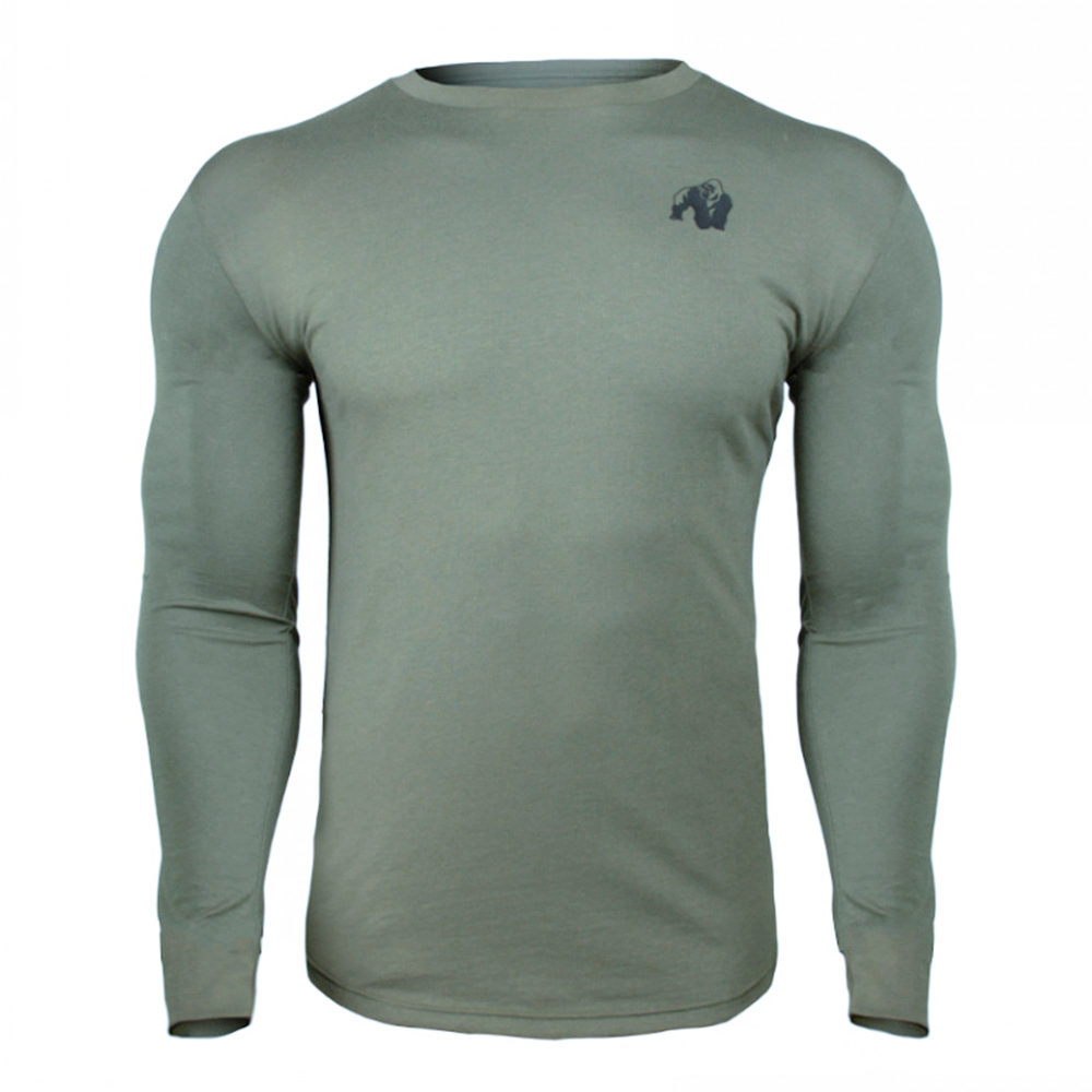 Casual Long sleeve Cotton T-shirt Men Gym Fitness Bodybuilding Workout Skinny t shirt Male Print Tee Tops Sporty Brand Clothing