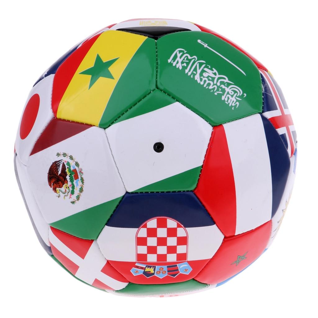 International Flag Soccer Ball Size 5 With Carry Net & Ball