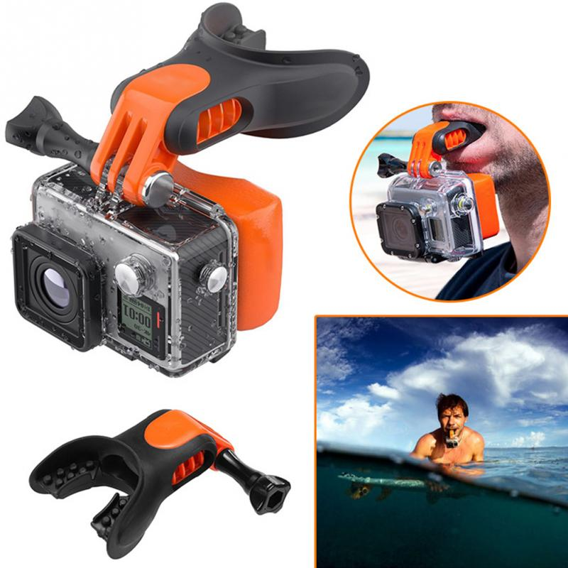 Surfing Camera Accessories Underwater Snowboard Portable Surf Braces Connector Mouth Mount Set Floaty Bite For Gopro Hero 7 6 5