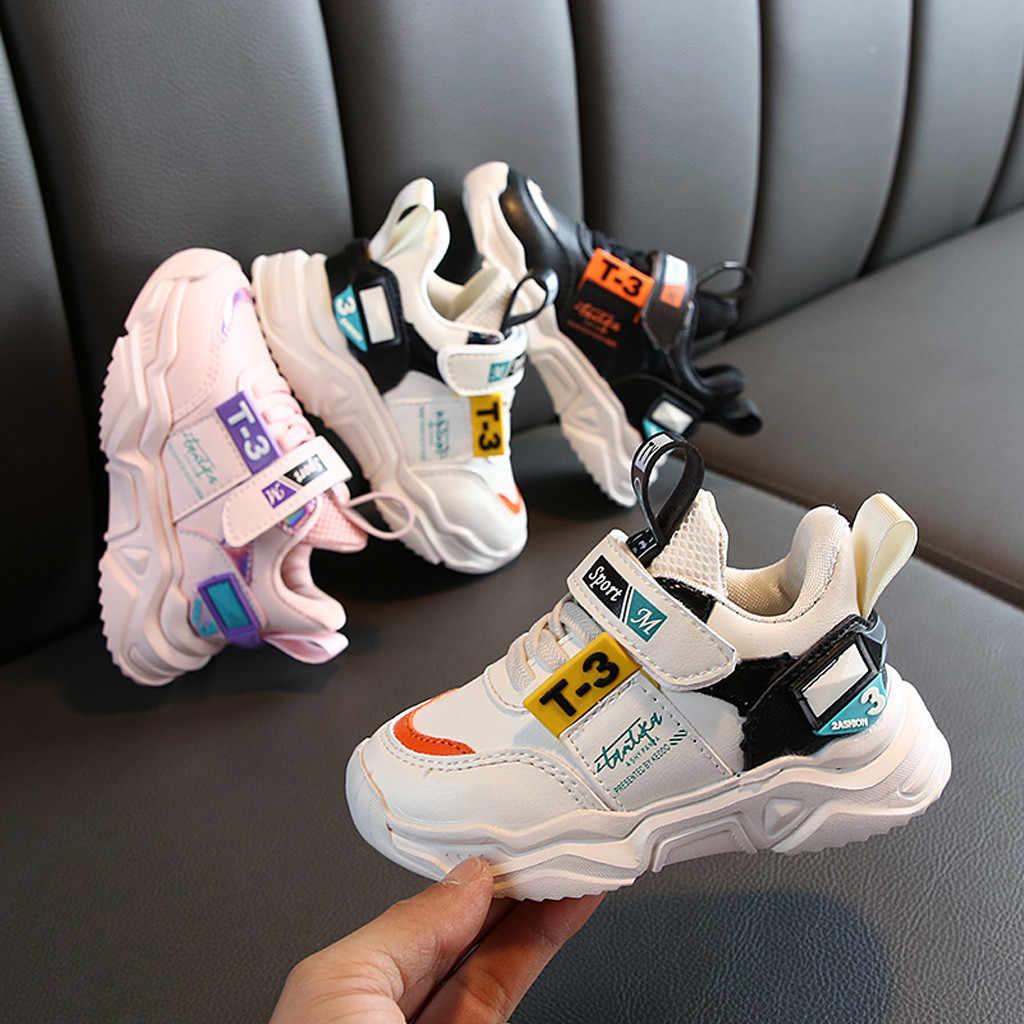 תינוק ילדי נעליים יומיומיות חדש אופנה ילדים של ניטראלי קל משקל חיצוני ספורט נעלי נעליים יומיומיות חג המולד מתנות