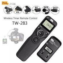 Pixel TW-283 sem fio temporizador liberação do obturador de controle remoto (dc0 dc2 n3 e3 s1 s2) cabo para canon nikon sony câmera tw283