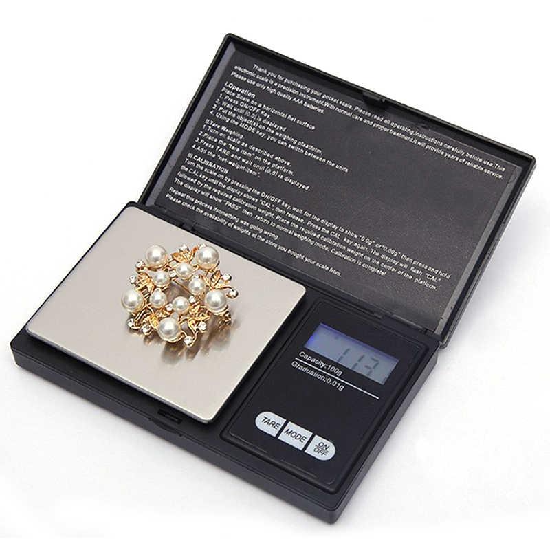 الدقة LCD موازين رقمية مسحوق الحبوب مجوهرات مقياس 3 وسائط وزنها 0.01g 0.1g ميزان إلكتروني صغير 100-1000g أداة HOt