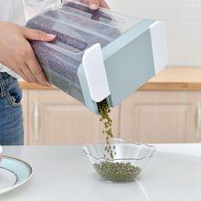 Герметичный ящик для хранения пищи пластиковый прозрачный контейнер зерен сухих держатель бутылок емкость для домашняя кухня набор инструментов