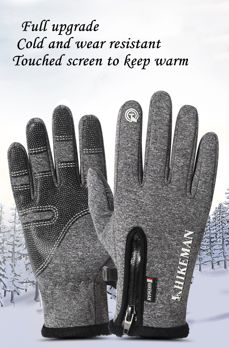CUHAKCI Waterproof and Windproof Touch Screen Gloves for Men and Women Suitable for Operating All Touch Screen Devices during Winter 16