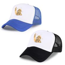 Hats Cotton Women Men Adjustable Cap Unisex Astronaut Printing Baseball Caps Travel Mesh Sport Snapbacks