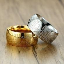 Мужское молитвенное кольцо vnox 10 мм из нержавеющей стали с