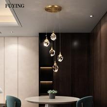 Nordic Diamond Cut Crystal Pendant Light Living Room Dining Room Indoor Lights Stair Bar loft Lighting Ceiling Chandelier Lamp