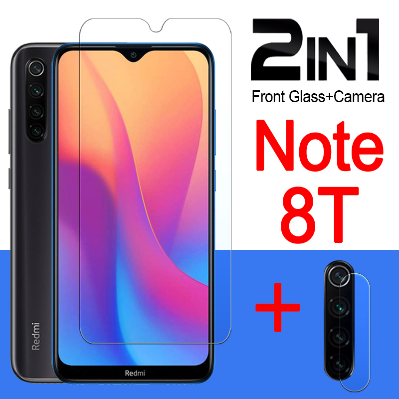 Redmi Note 8t Glass Protective For Xiaomi Readmi Note8t Screen Protector Xiomi Not Note 8 T On Tempered Glas 2in1