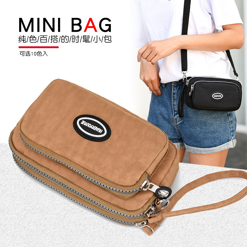 Flowers About 527 Casual Waterproof Shoulder Mobile Phone Mommy Travel Bag Amy Fashion Apricot