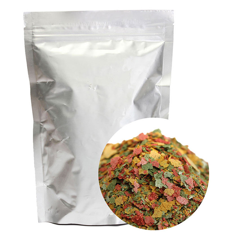 Colorful Flake Aquarium Fish Feed Food Tropical Fish Marine Ornamental Fish Small Goldfish Koi Tetra Flakes Feeding Food 100g