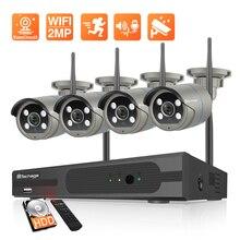 Techage 8CH 1080P Drahtlose Kamera System Zwei weg Audio CCTV Kamera 2MP Im Freien Wasserdichte Wifi NVR Kit Video überwachung Kit