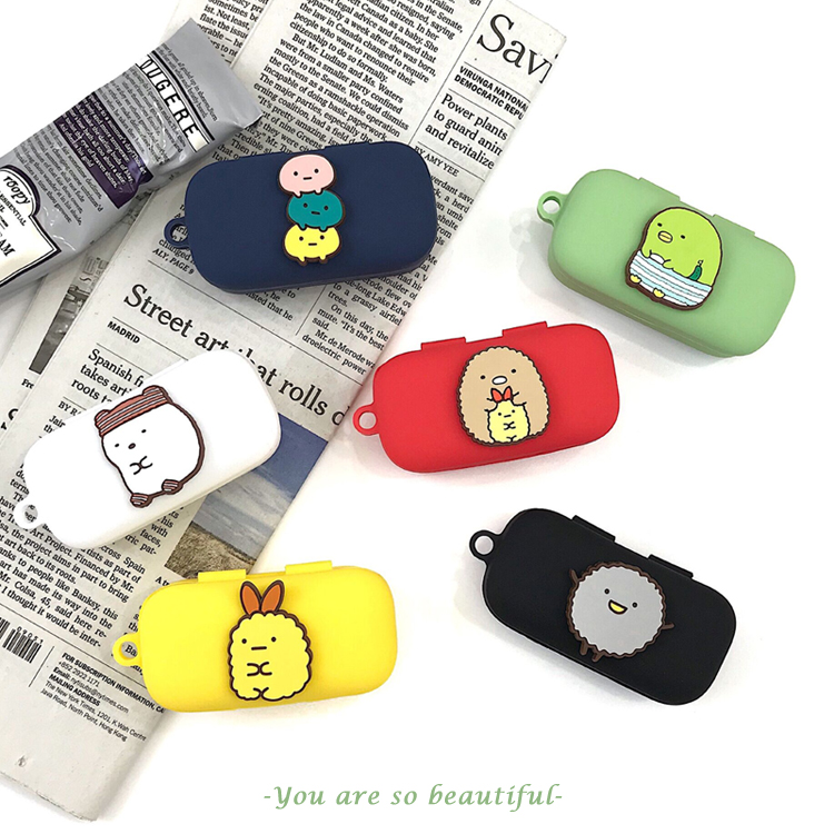 Cartoon Cute Silicone Case For QCY T5 Wireless Bluetooth Headset Portable Protective Cover With Anti-lost Buckle For QCY T5