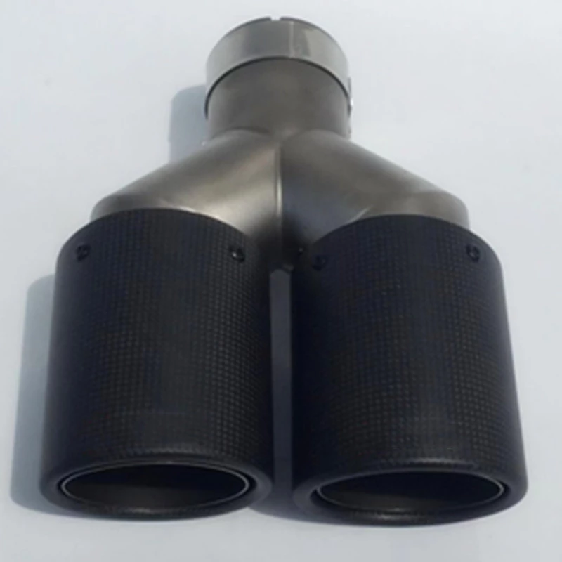 carantly Universal Newest Dual Equal Length <font><b>Car</b></font> Styling Carbon Fiber For <font><b>Akrapovic</b></font> Exhaust Pipe Tip muffler tip For <font><b>BMW</b></font> Mini image