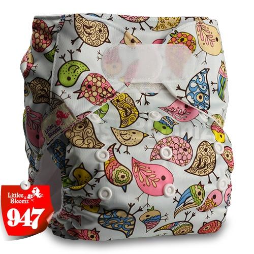 [Littles&Bloomz] Один размер многоразовые тканевые подгузники Моющиеся Водонепроницаемые Детские карманные подгузники стандартная застежка на липучке - Цвет: 947