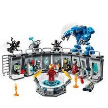 Superhéroes Iron Man conjuntos compatibles Legoinglys Marvel Avengers Endgame Super Héroes bloques de construcción de ladrillos para niños