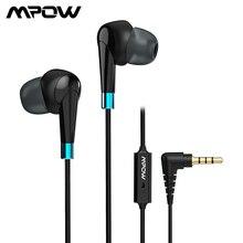 Mpow WH7 kablolu kulaklık kulak Stereo kulaklık dahili mikrofon In line kontrol 3.5mm kulakiçi Samsung Xiaomi telefonu için bilgisayar