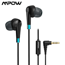 Mpow wh7 com fio fones de ouvido fone de ouvido estéreo microfone embutido in line controle 3.5mm fones de ouvido para samsung xiaomi telefone computador