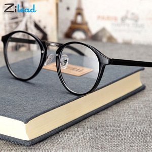 Zilead Plain Glasses Round Spectacle Frame Anti-Blue Glasses Retro Comfortable Fashion High Quality Hinge Reading Glasses
