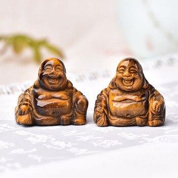 1 adet doğal taş oyma Maitreya buda Fengshui kristal heykeli el sanatları ev dekorasyon için çakra şifa Reiki kuvars hediye