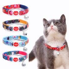 Colliers en Nylon avec cloche de sécurité pour chats, accessoires de dessin animé pour chatons
