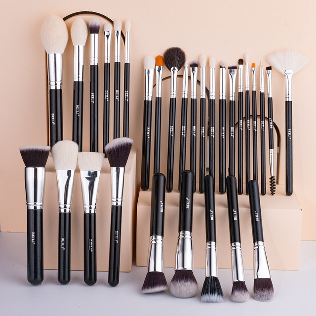 BEILI Goat Makeup Brush Set Eyeshadow Makeup Brushes Professional Foundation Blending Eyebrow Fan Blush  pinceaux de maquillage 2
