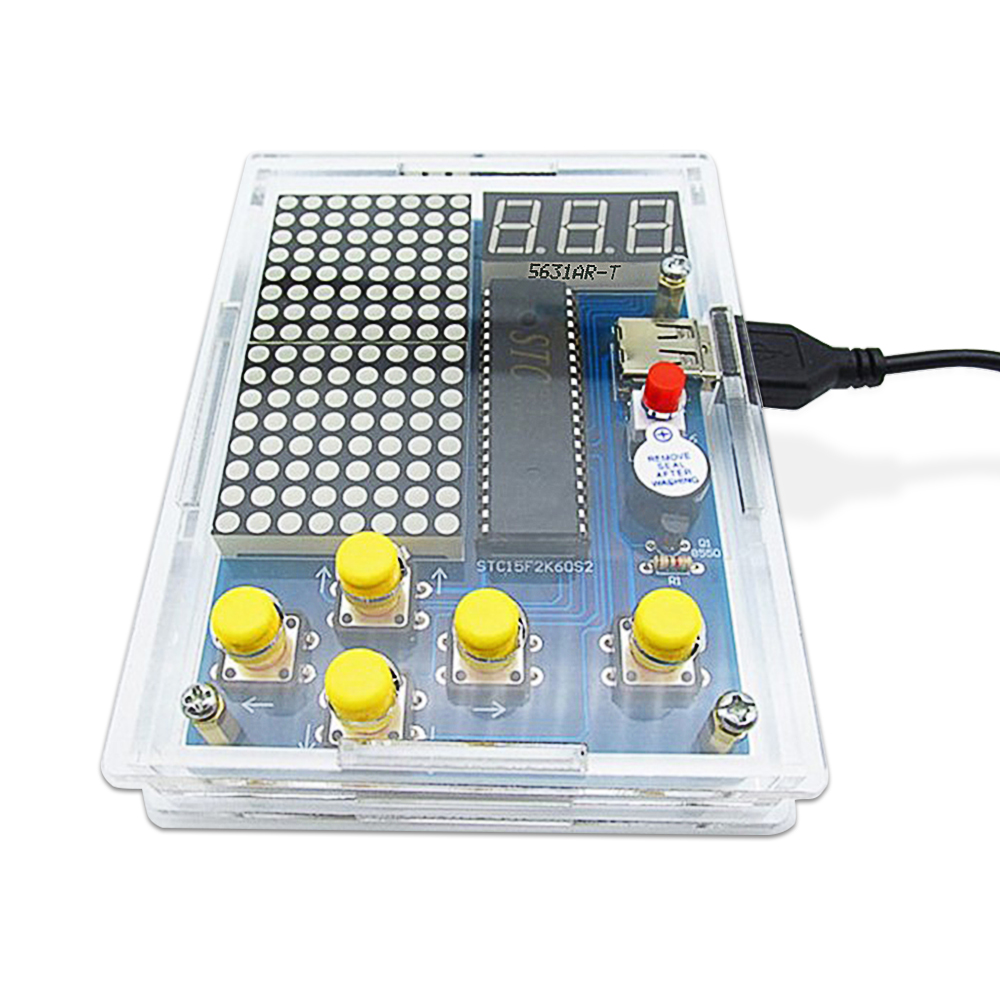 DIY Game Kit Retro Classic Electronic Soldering Kit , Tetris/Snake/Plane/Racing With Case