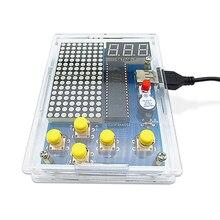 FAI DA TE Kit di Gioco Retro Classic Elettronico Kit di Saldatura, Tetris/Serpente/Aereo/Corsa con il Caso