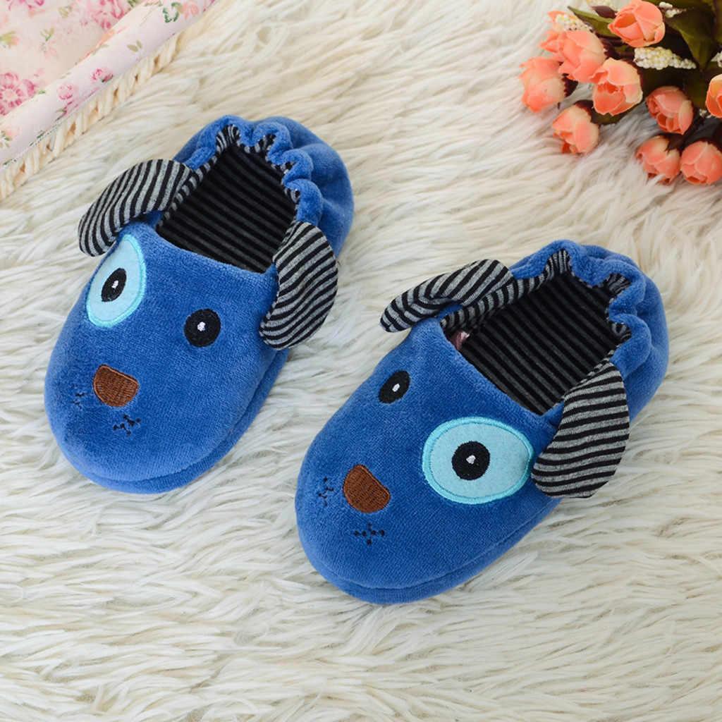 MUQGEW החדש ילדי נעלי תינוקות פעוט ילדי תינוק סתיו 2019 חם נעלי בני בנות חמוד Cartoon קומפי רך עם סוליות נעלי בית