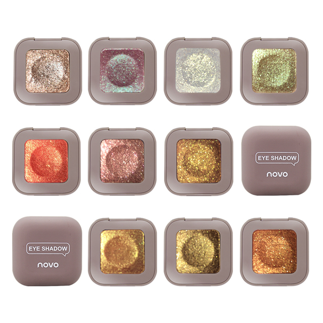 Novo Glitter Eyeshadow Makeup Palette Eye Shadow Palette Shine Polarize Eyeshadow Sparkling Duochrome Pigment Cosmetics 2019 4