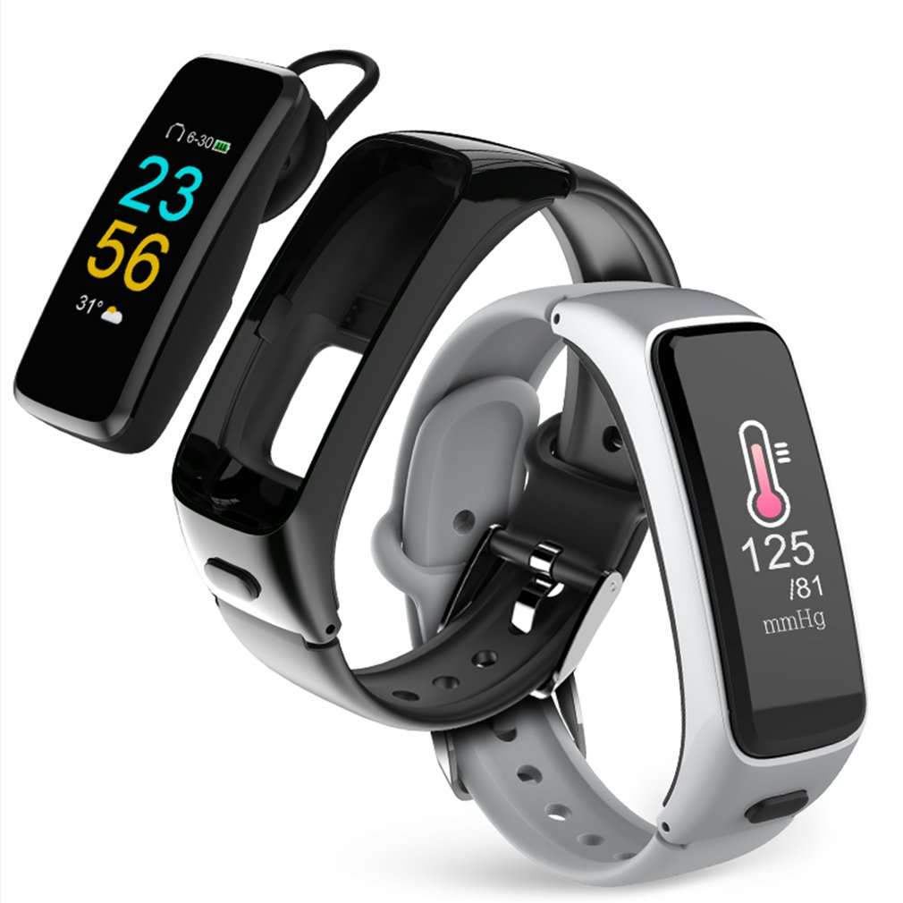 BY51 Bluetooth Earphone Smartband 2 in 1 Passometer Heart Rate Blood Pressure Monitor Smart Bracelet Sport Fitness Tracker Watch