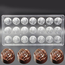 Clear Hard Plastic Rose Shaped Polycarbonate PC Chocolate Molds DIY Jelly Rose Shaped Chocolate Molds Small Cake Mold #30