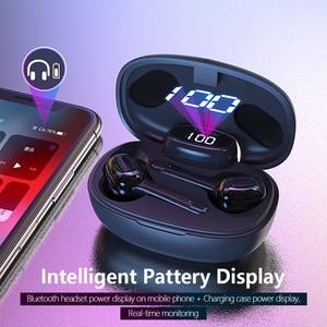 Image 2 - Essager T9S TWS Bluetooth Vero Auricolare Senza Fili Della Cuffia Mini Cordless Auricolari Con Microfono Vivavoce Auricolare Per Xiaomi iPhone